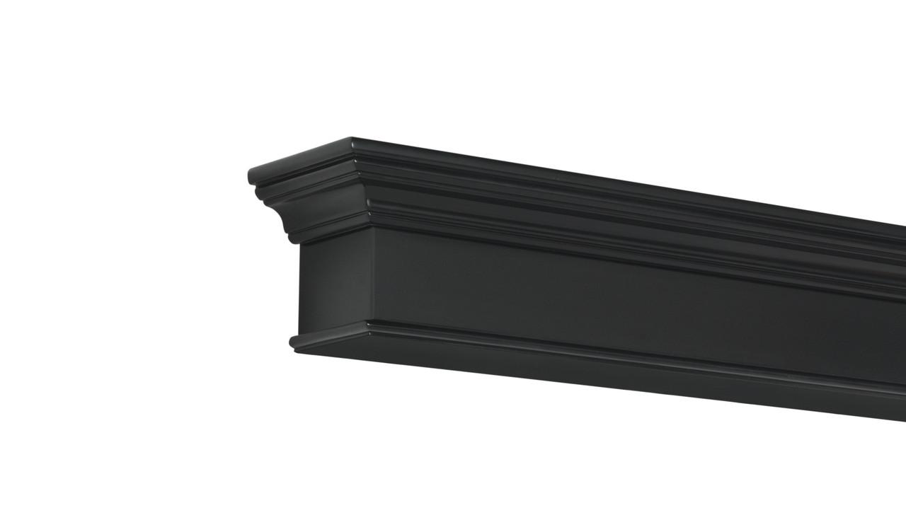 The Henry MDF Mantel Shelf, Painted Black, Left Corner