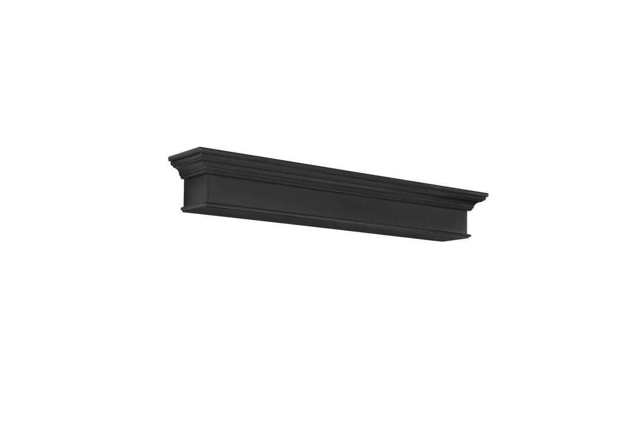 The Henry MDF Mantel Shelf, Painted Black