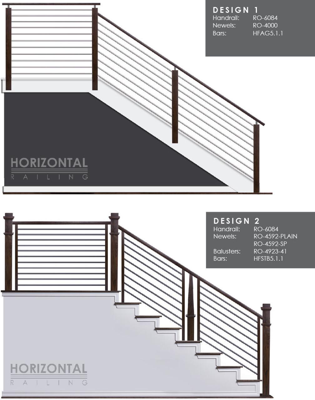 Horizontal Bar Design 1 and 2
