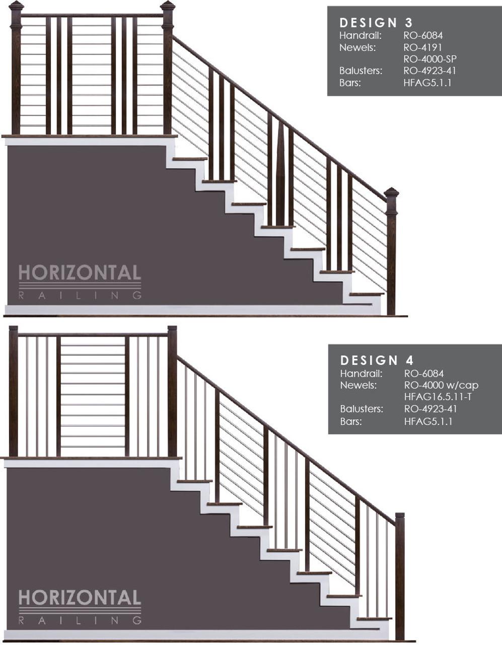Horizontal Bar Design 3 and 4