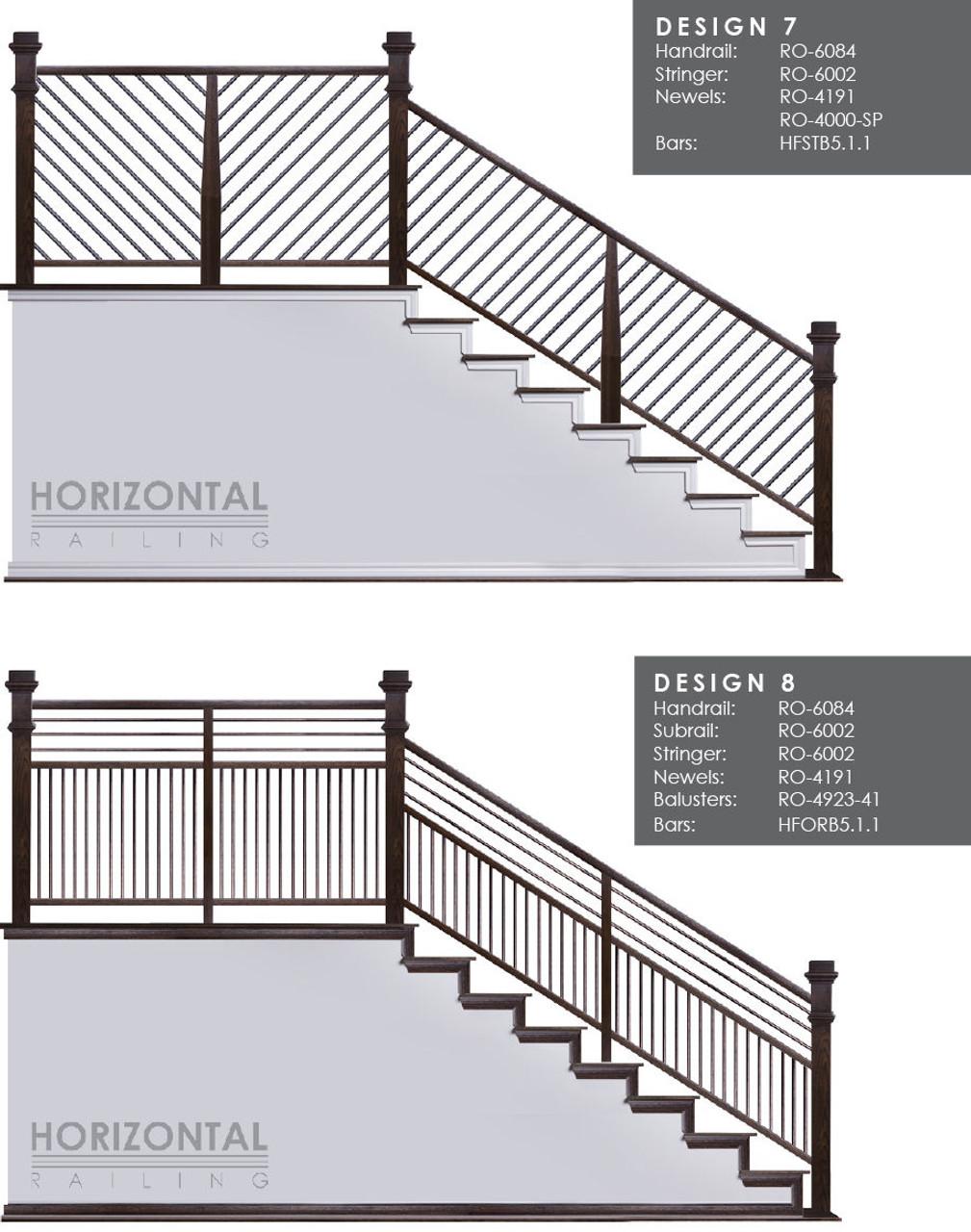 Horizontal Bar Design 7 and 8