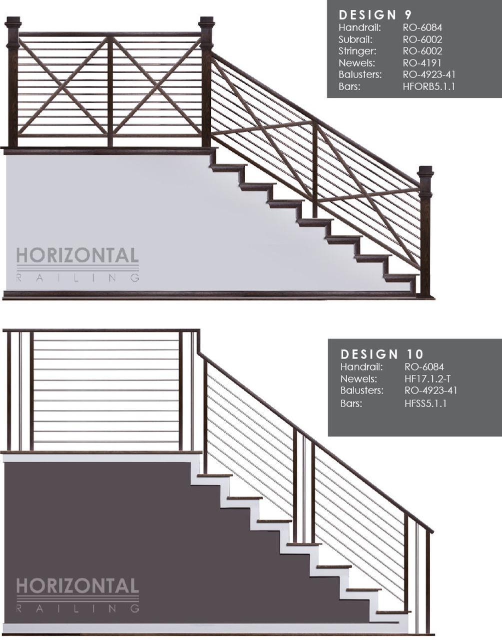 Horizontal Bar Design 9 and 10
