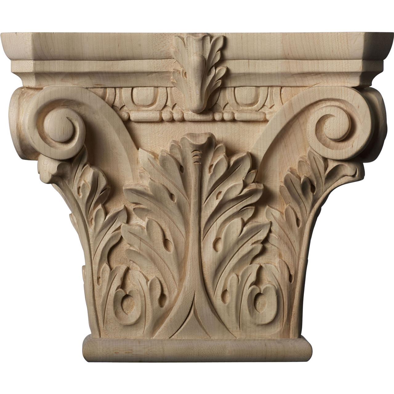 Floral Pilaster Capital, Large (CAP11X03X09FL)