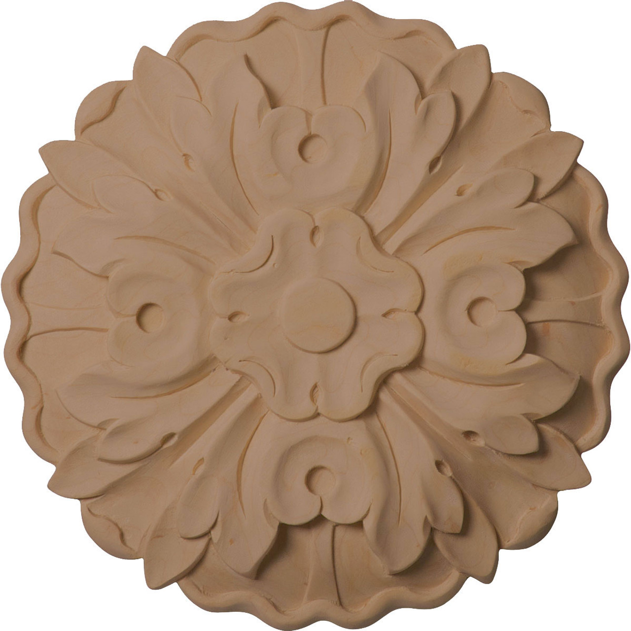 """Kent Floral Rosette, 6-7/8"""" Wide (ROS06X06X01KE)"""