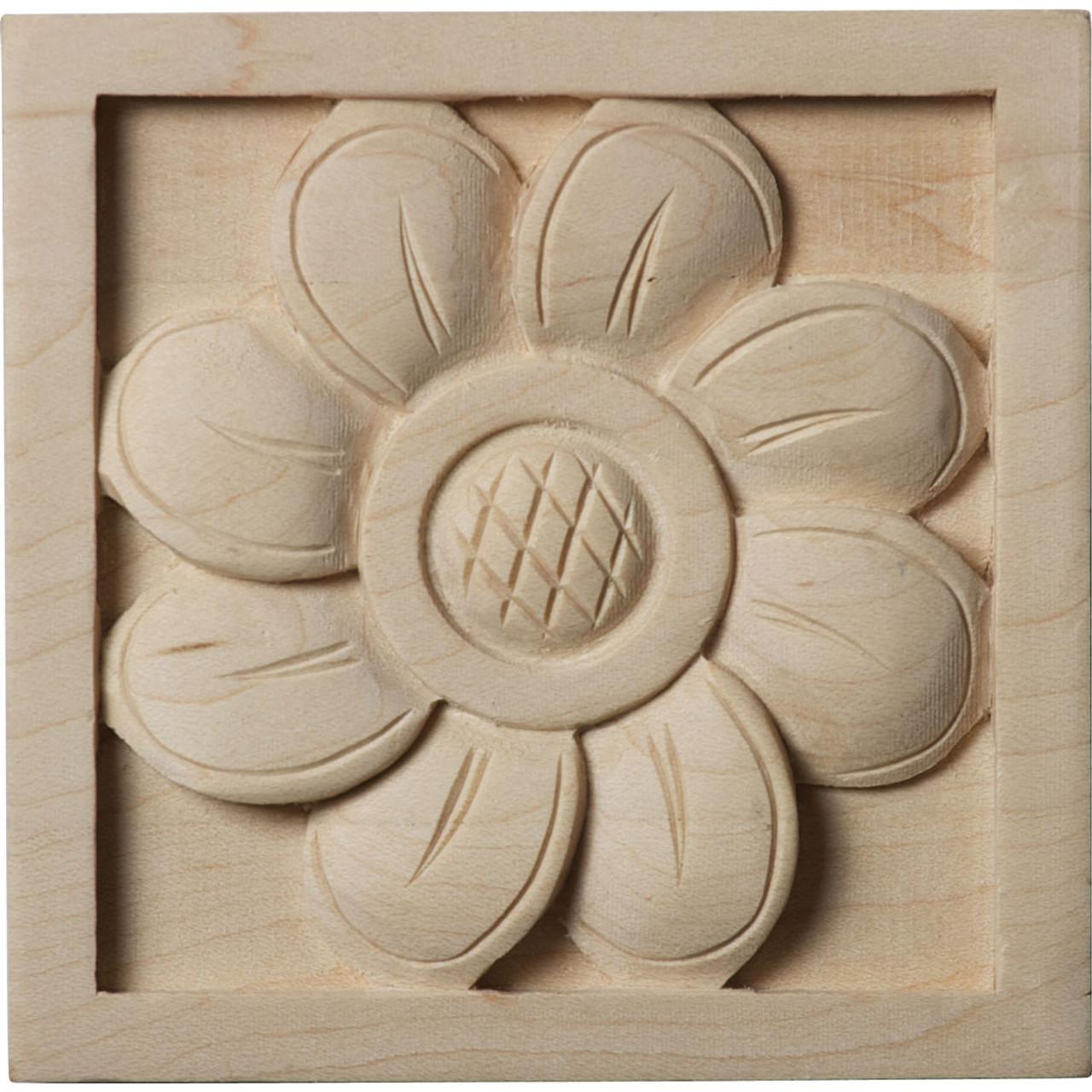 """Sunflower Rosette, 3"""" (ROS03X03X00SF)"""