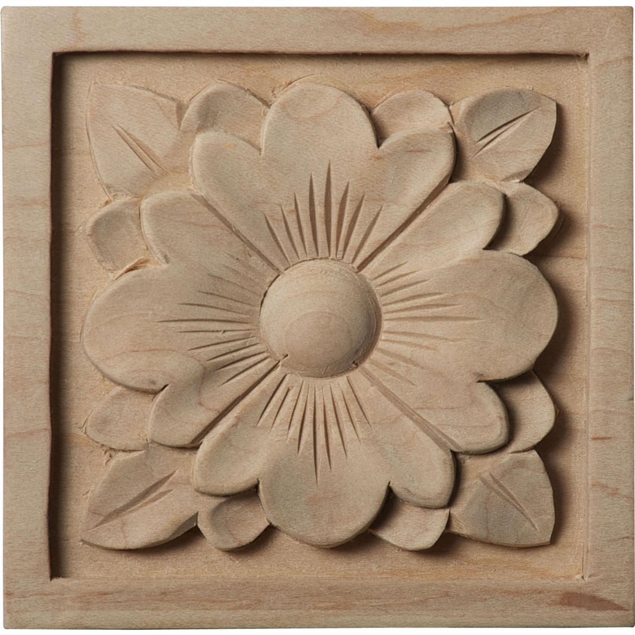 """Dogwood Flower Rosette, 3-1/2"""" (ROS03X03DG)"""