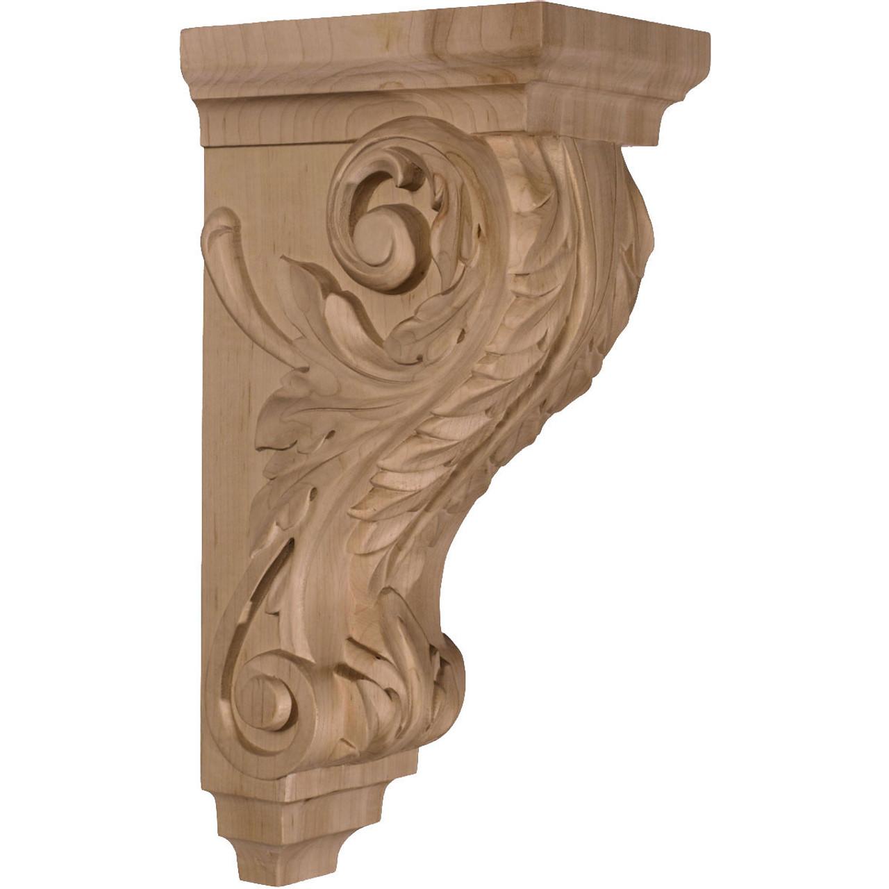 "Acanthus Large Pilaster Corbel, 5"" X 7"" X 14"" (CORW05X07X14AC)"