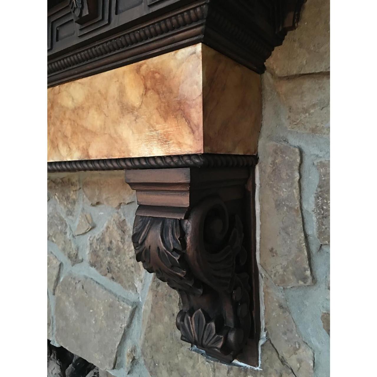 "Acanthus Large Jumbo Pilaster Corbel, 8"" X 9"" X 30"" (CORW08X09X30AC) (3)"