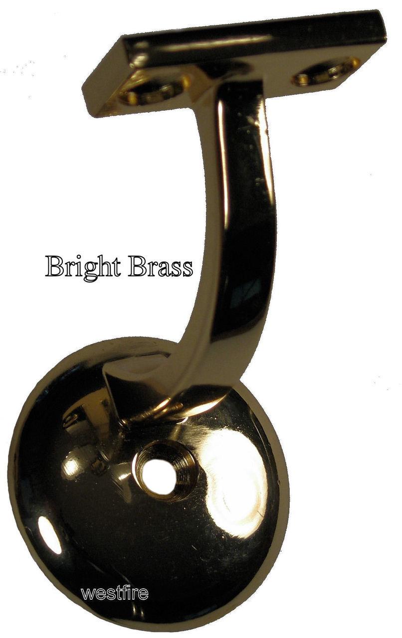3003-BB Bright Brass Wall Handrail Bracket