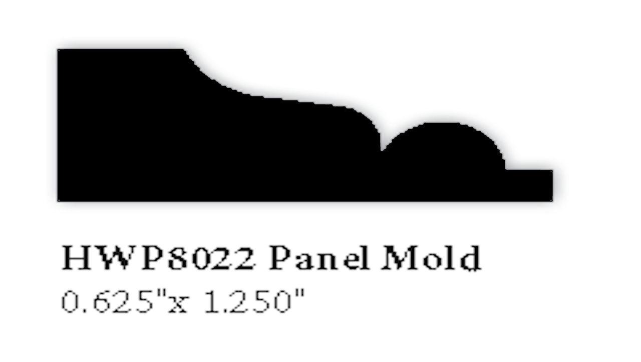 """8011 1-/2"""" x 1-1/4"""" Hardwood Panel Mold"""