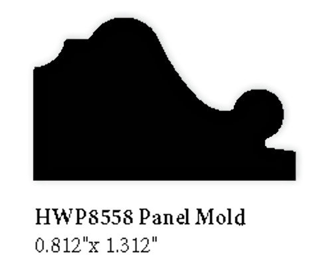 8558 Hardwood Panel Mold