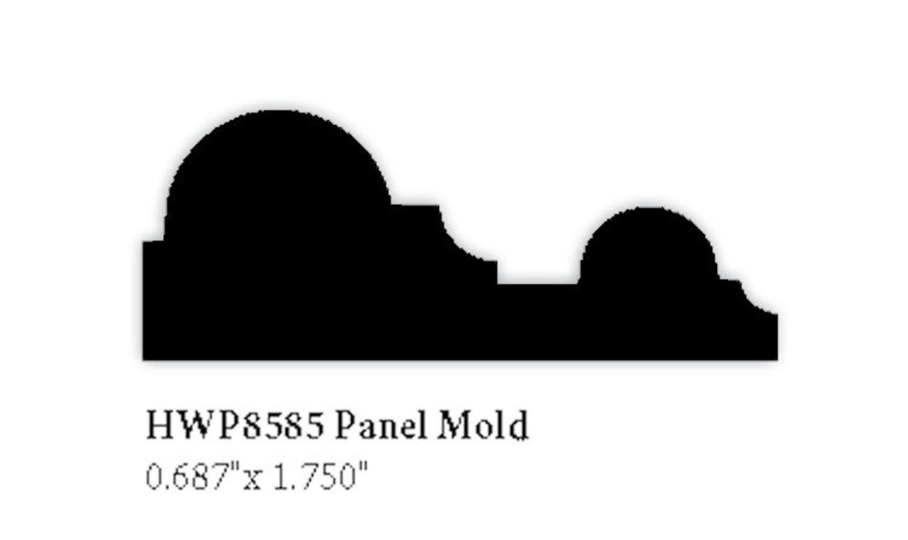 "8585 Panel Mold, 5/8"" X 1-3/4"""