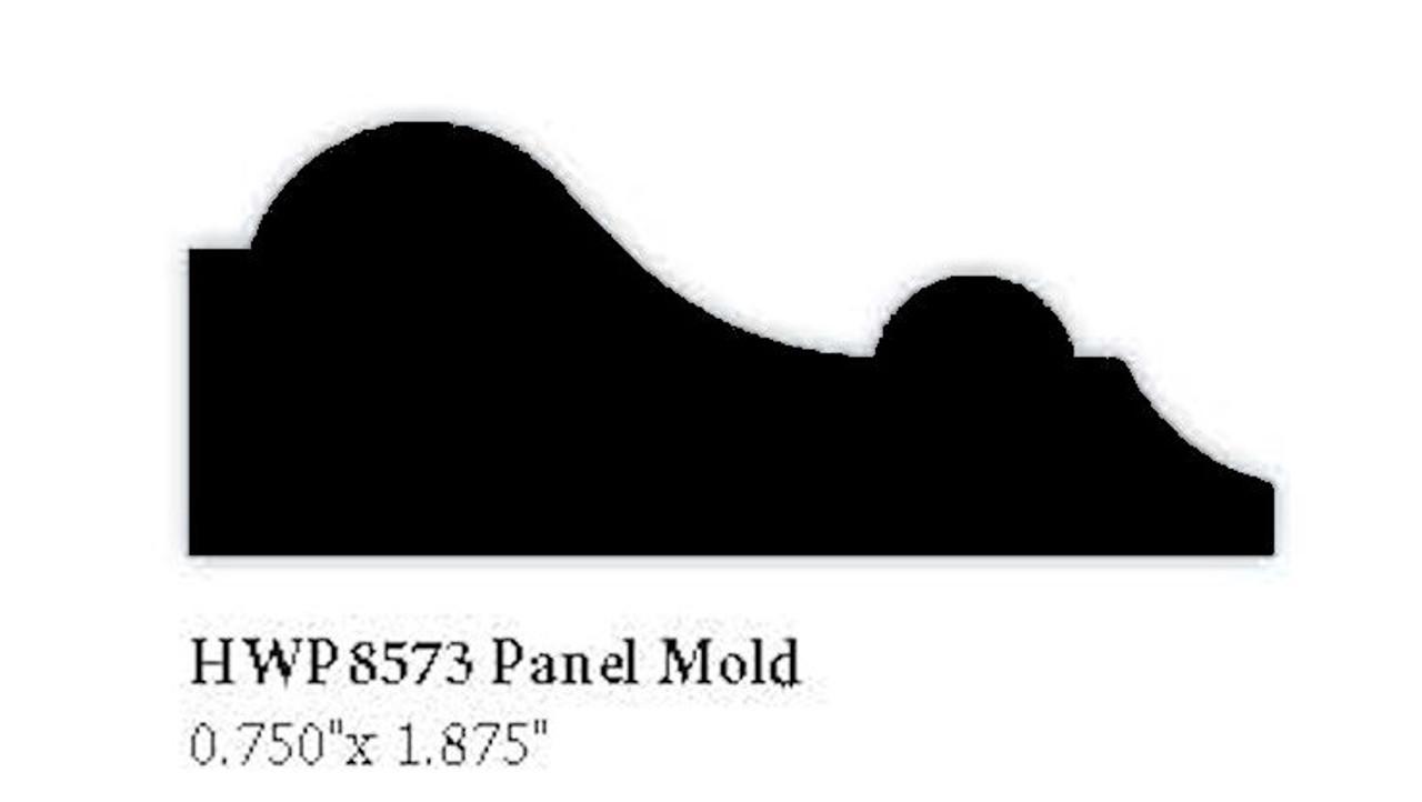 """8573 Hardwood Panel Molding, 0.75"""" x 1.875"""""""