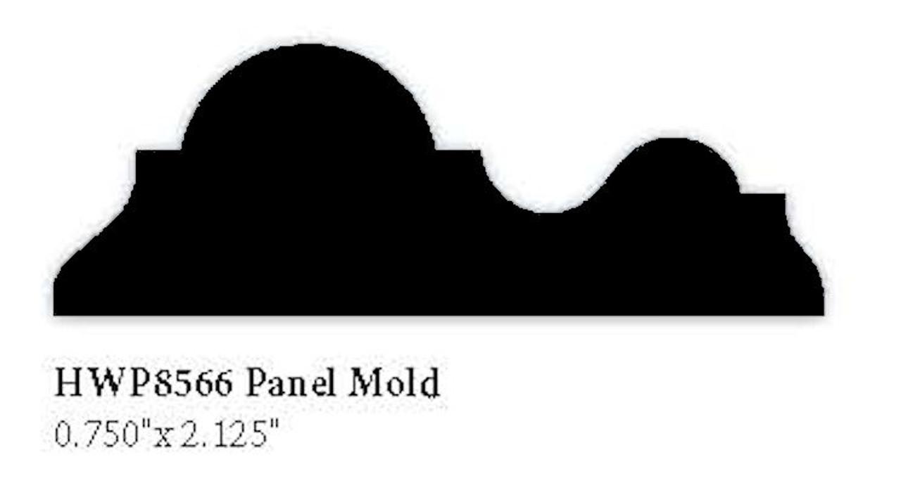 """8566 Hardwood Panel Molding, 0.75"""" x 2.125"""""""