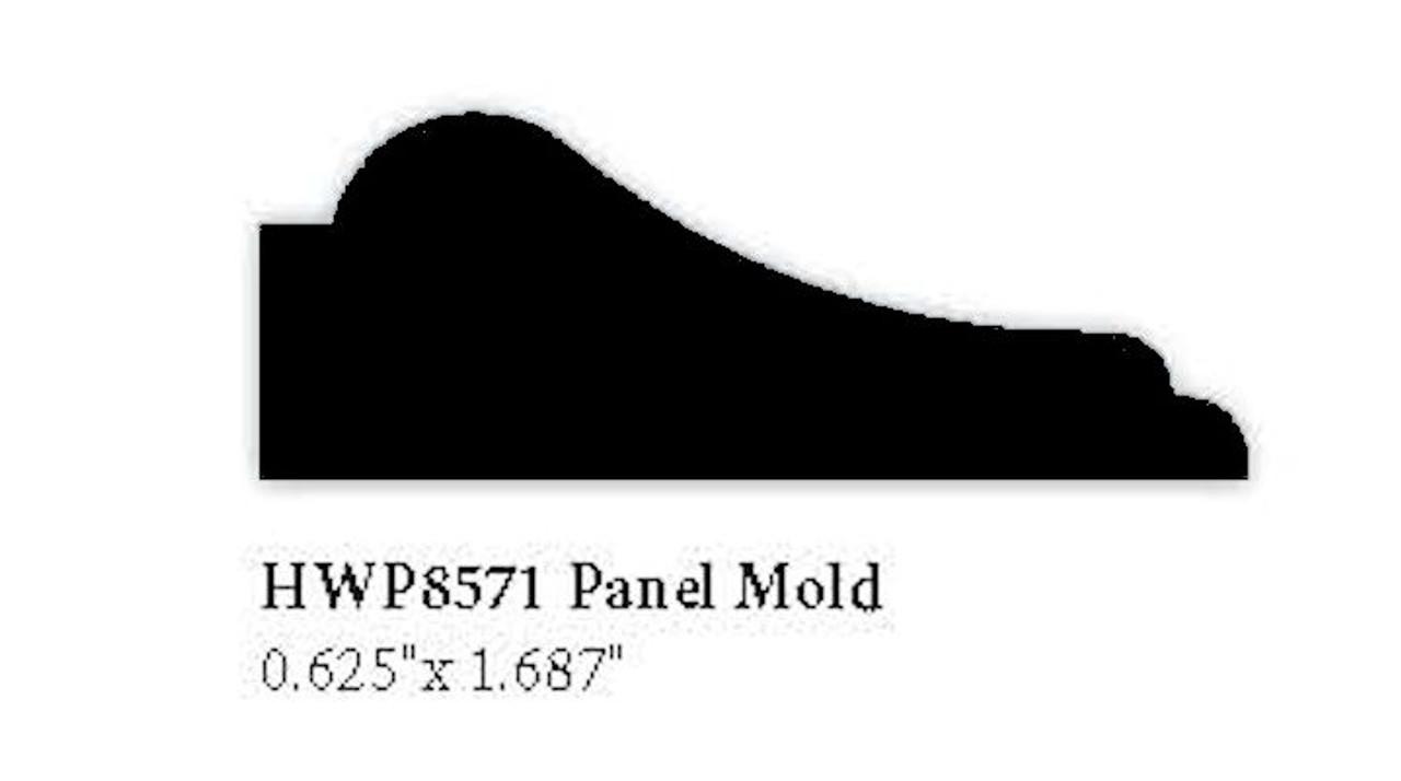 """8571 Hardwood Panel Molding, 0.625"""" x 1.687"""""""
