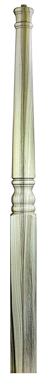 """A-4020PT 48"""" Colonial Pin Top Starting Newel Post Shown in Poplar"""