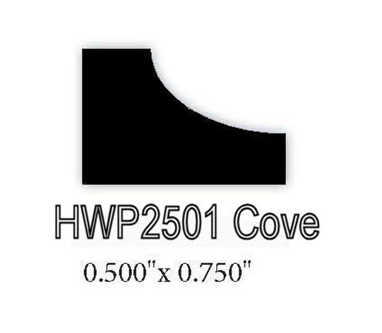 "2501 1/2"" x 3/4"" Cove Molding"