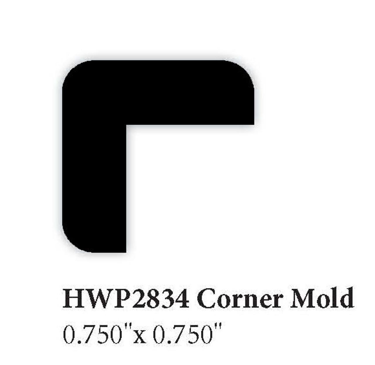 """2834 3/4"""" x 3/4"""" Corner Molding"""
