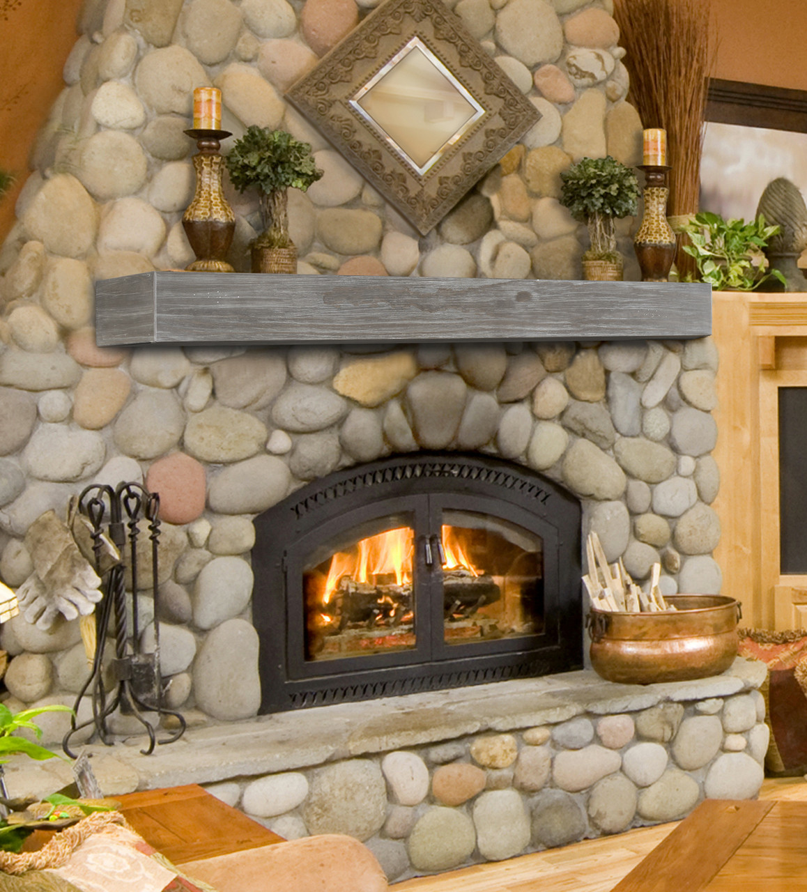 "The Shenandoah Shelf, 60"" Cottage Gray, Life-Style View"