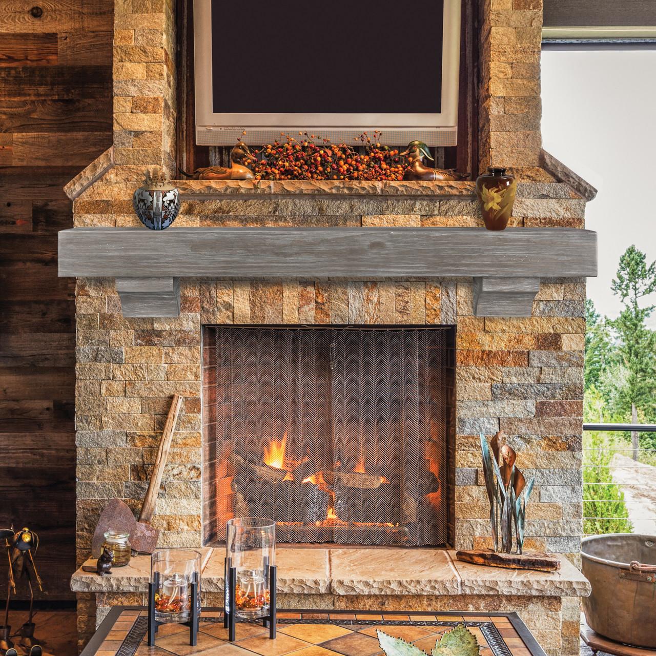 "The Shenandoah Shelf, 60"" Cottage Gray, Life-Style View 2"
