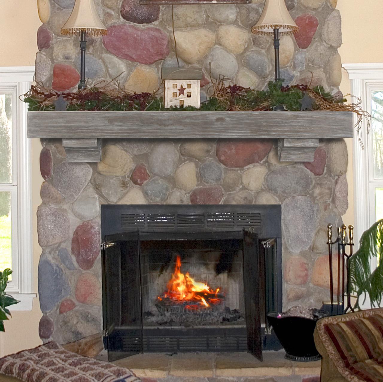 "The Shenandoah Shelf, 60"" Cottage Gray, Life-Style View 3"