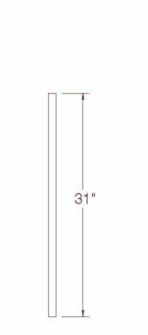 """100EE Poplar S4S Balusters with Eased Edges 31"""""""