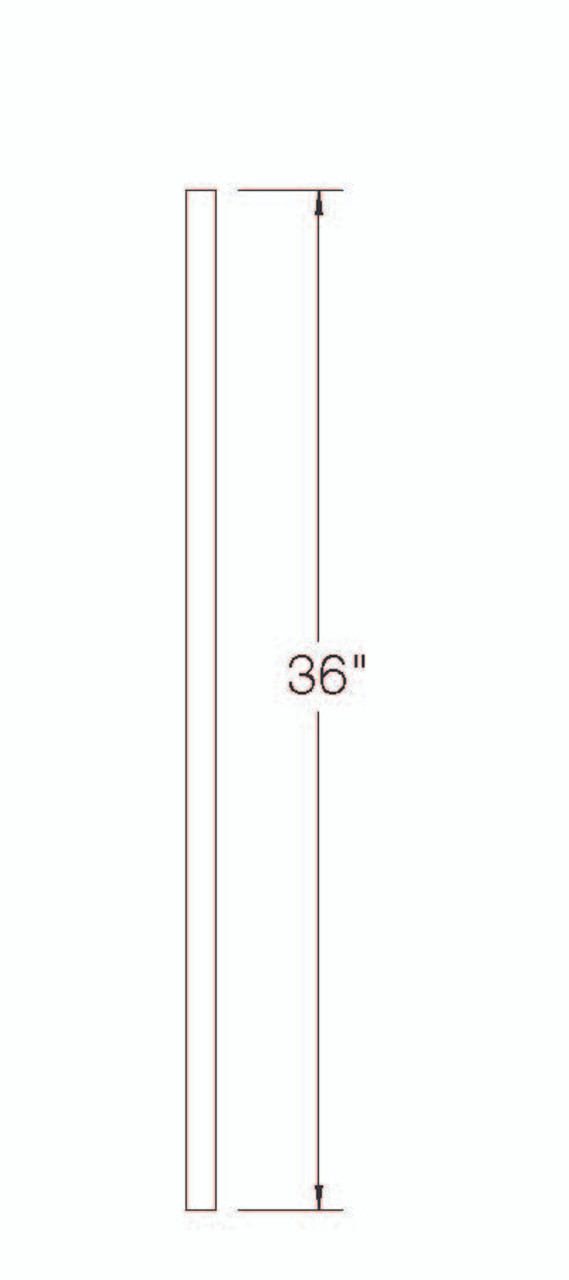 """100EE Poplar S4S Balusters with Eased Edges 36"""""""