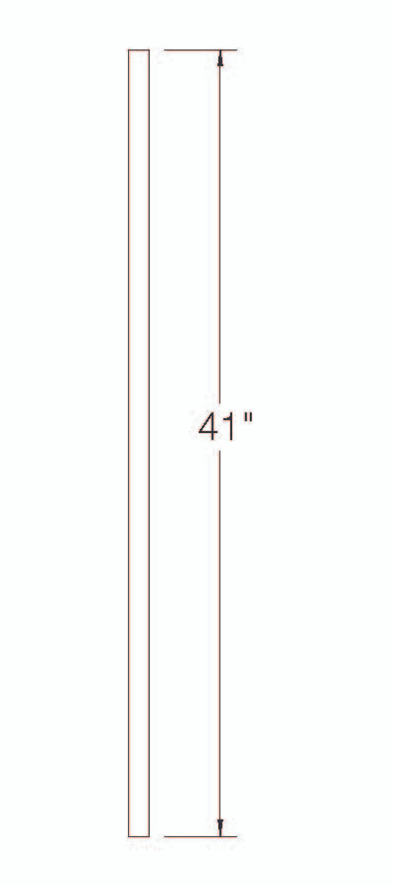 """100EE Poplar S4S Balusters with Eased Edges 41"""""""