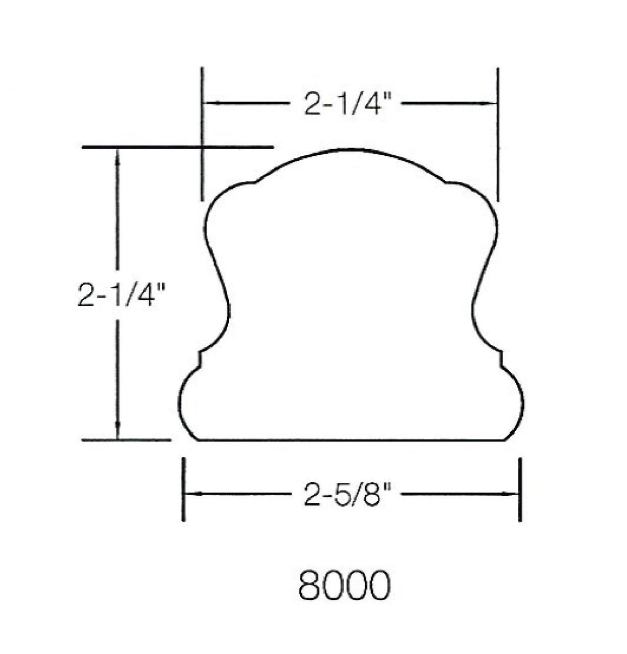 8000 Handrail Dimensional Information