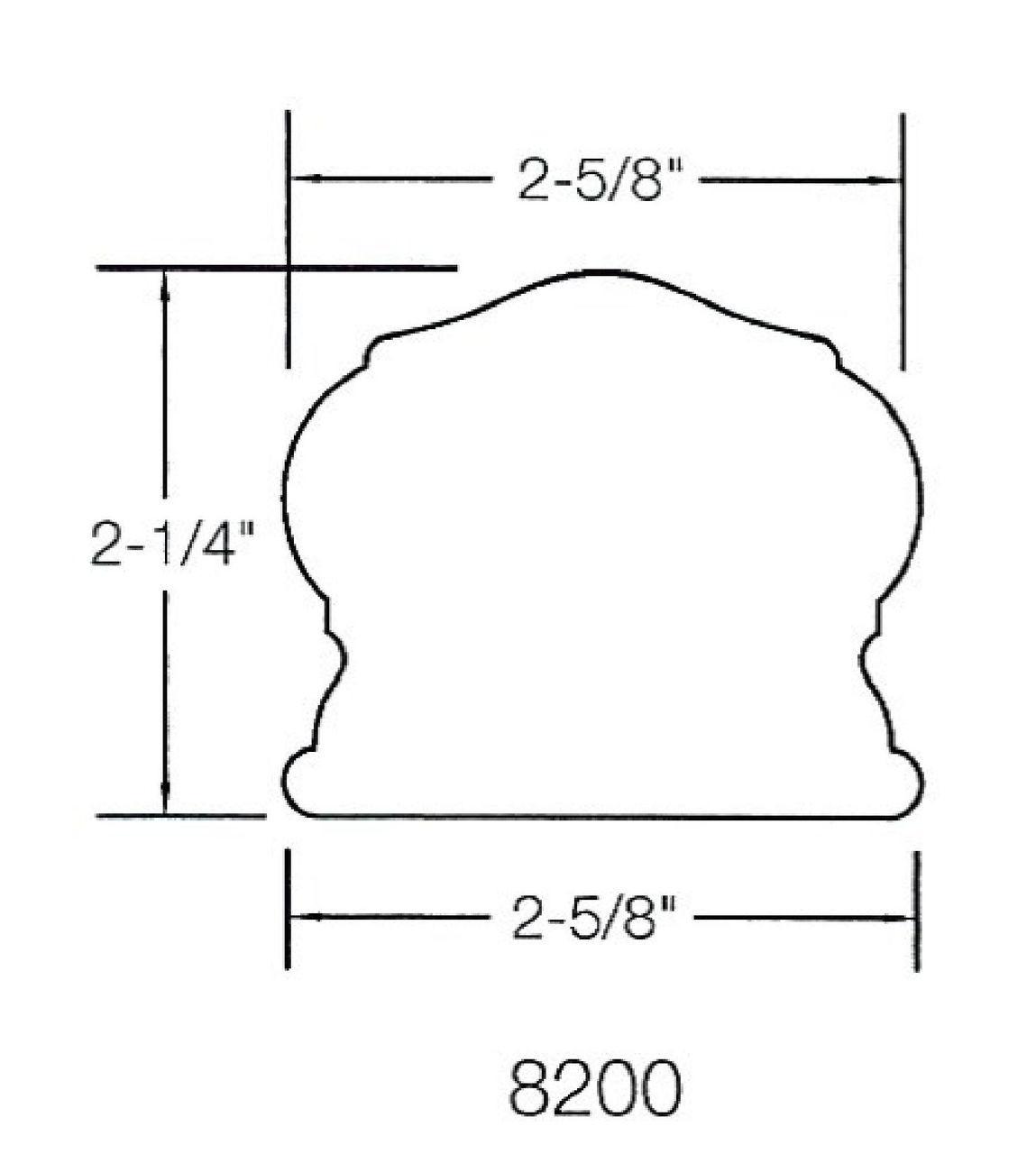 8200 Handrail Dimensional Information