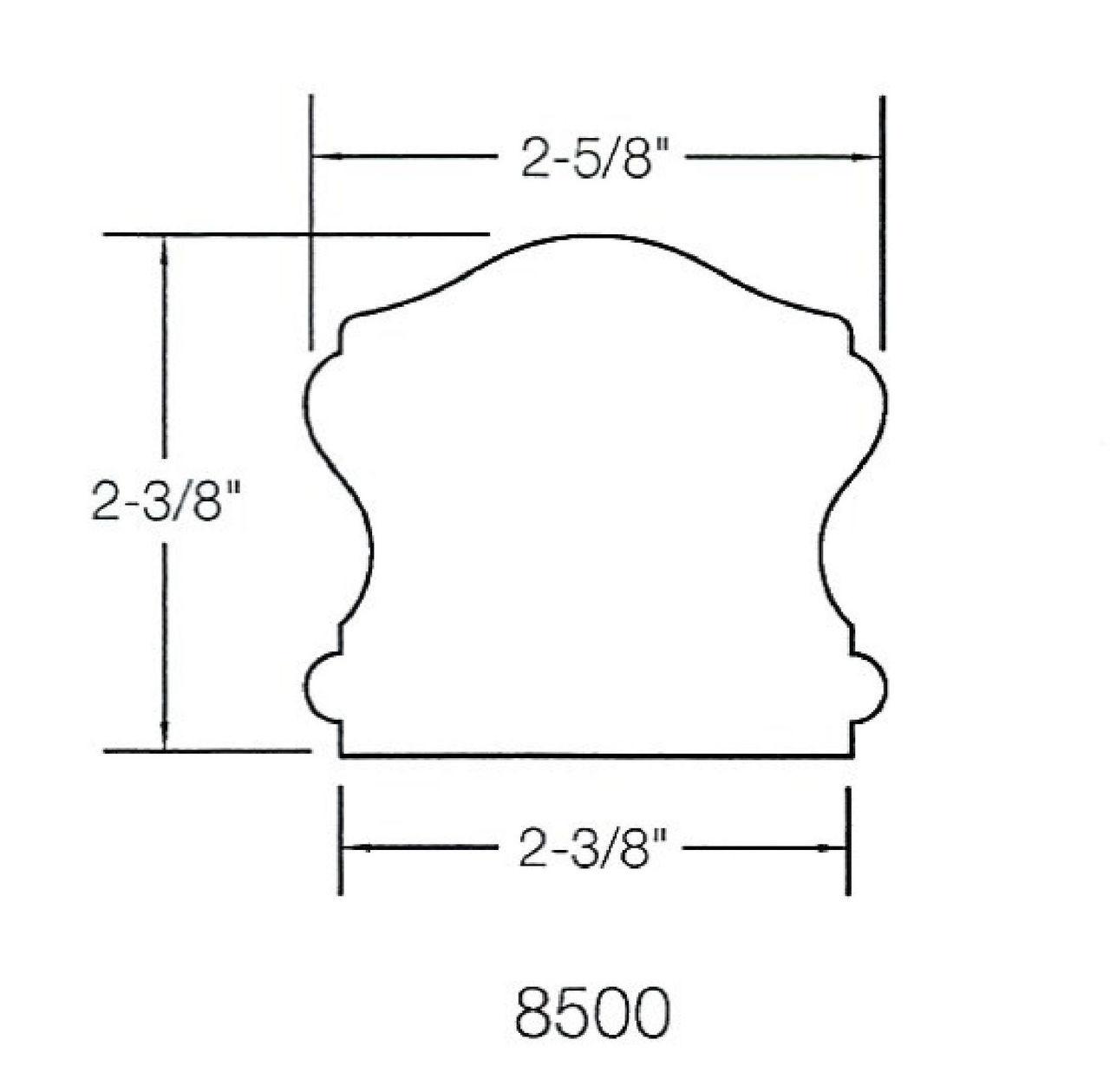 8500 Handrail Dimensional Information