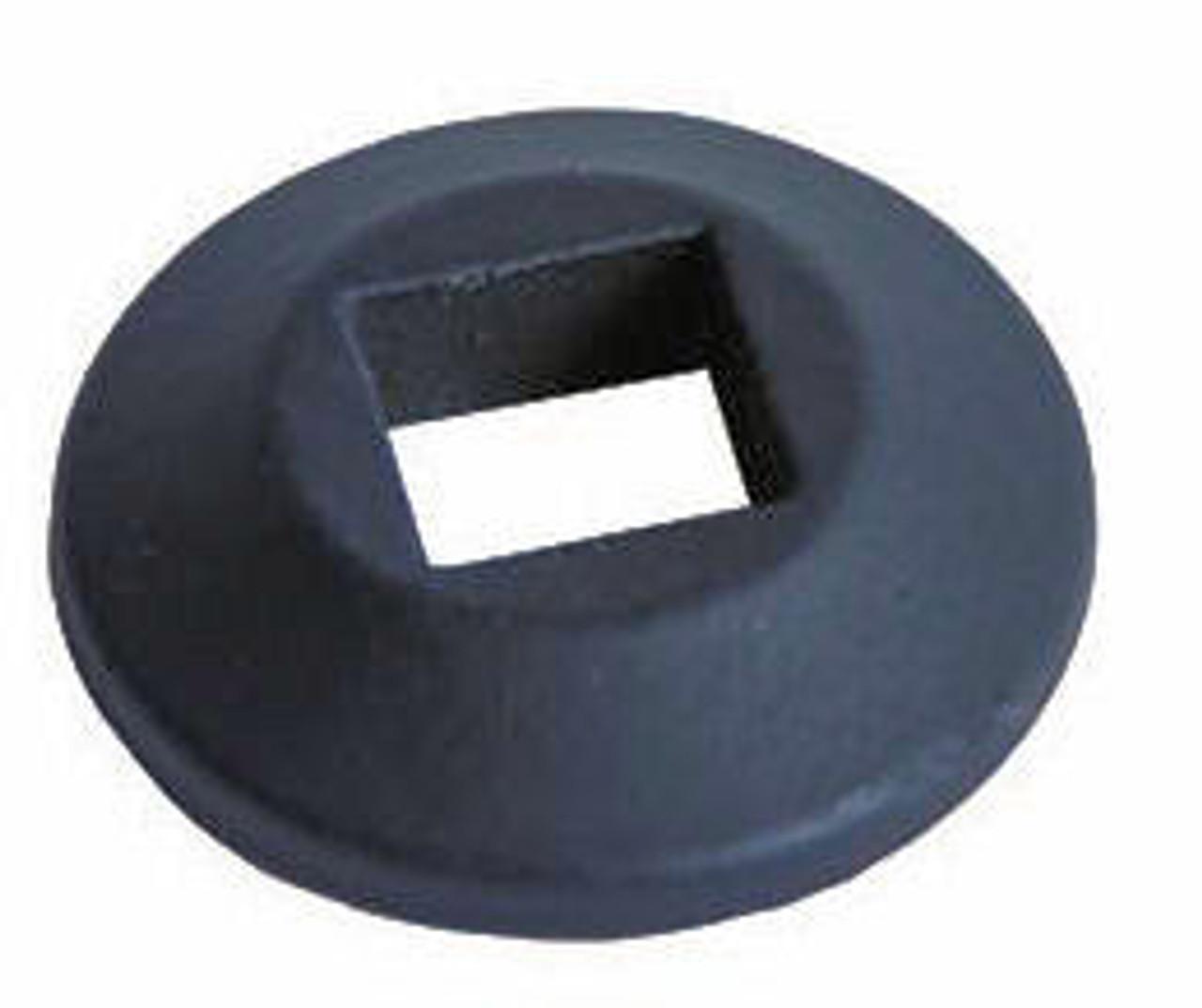 Modern Disk Shoes for Square Balusters Satin Black