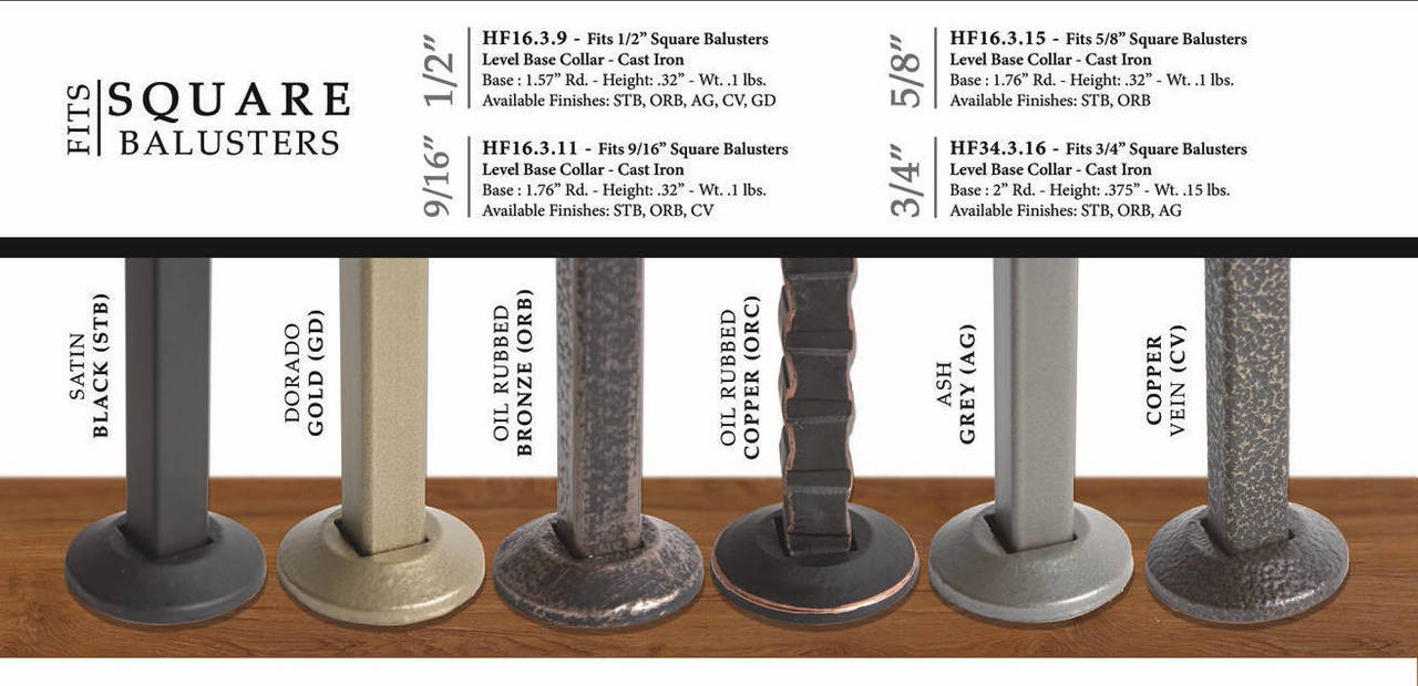 Fits Square Balusters