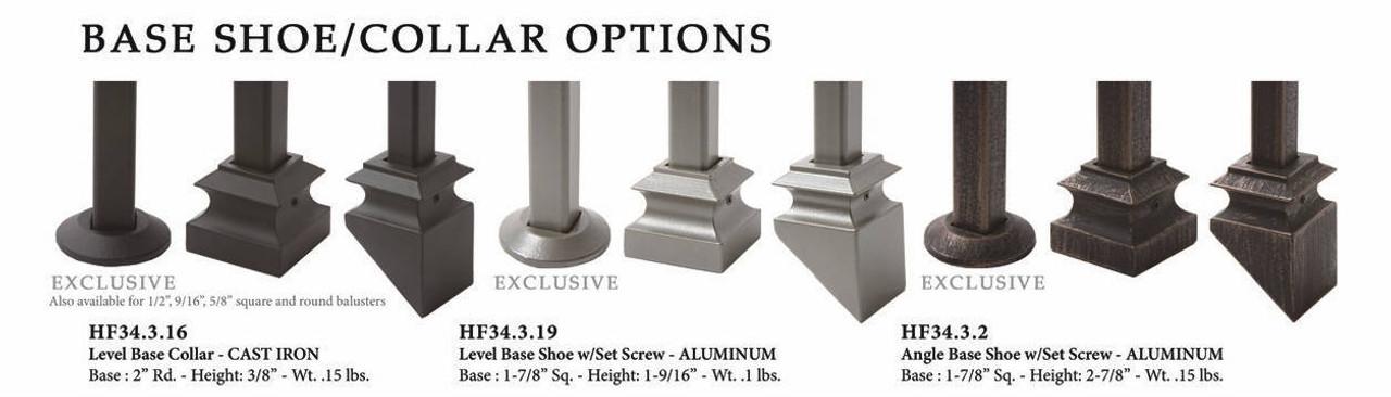 HF34.2.1-T MEGA Plain Square Bar Tubular Steel available Shoes and Powder Coatings