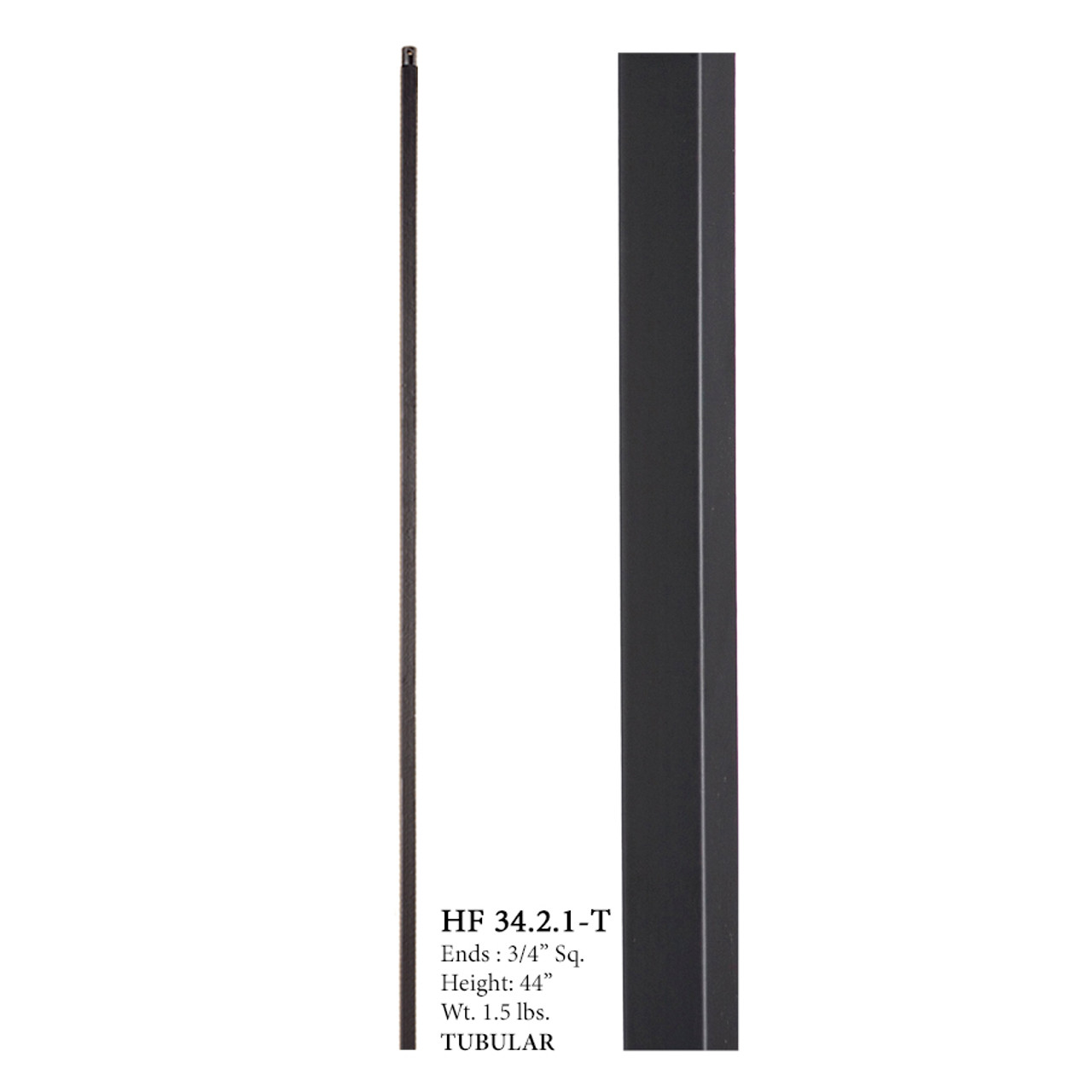 HF34.2.1-T MEGA Plain Square Bar Tubular Steel Baluster