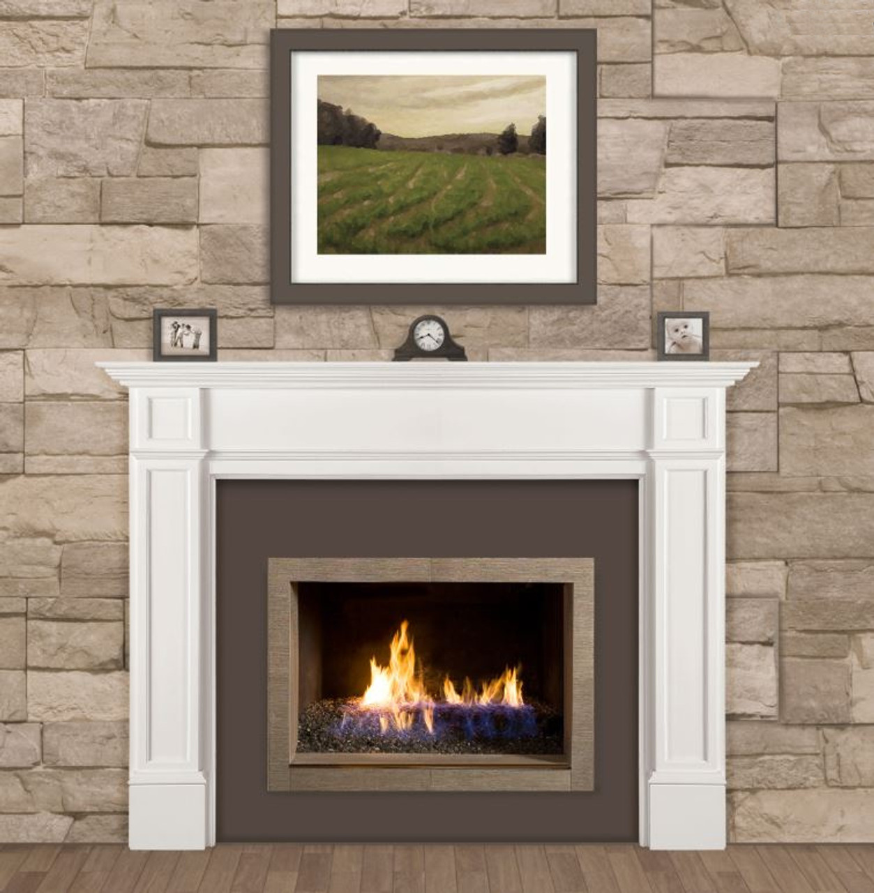 The Marshall Fireplace Mantel Surround, 48 Lifestyle View