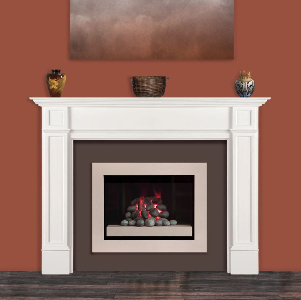 The Marshall Fireplace Mantel Surround, 48 Lifestyle View 2
