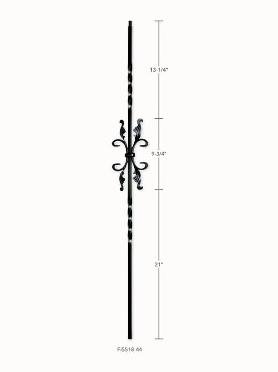 FI5518-44 Twist with Butterfly-Leaf Iron Baluster