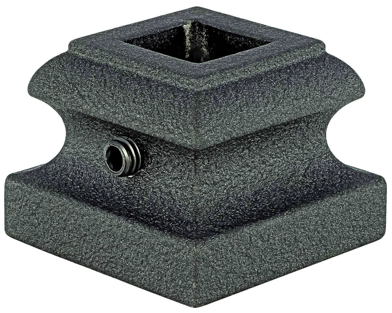 """FI3101-2 Base Shoe for 9-1/16"""" Balusters (Shown in Silver Black)"""