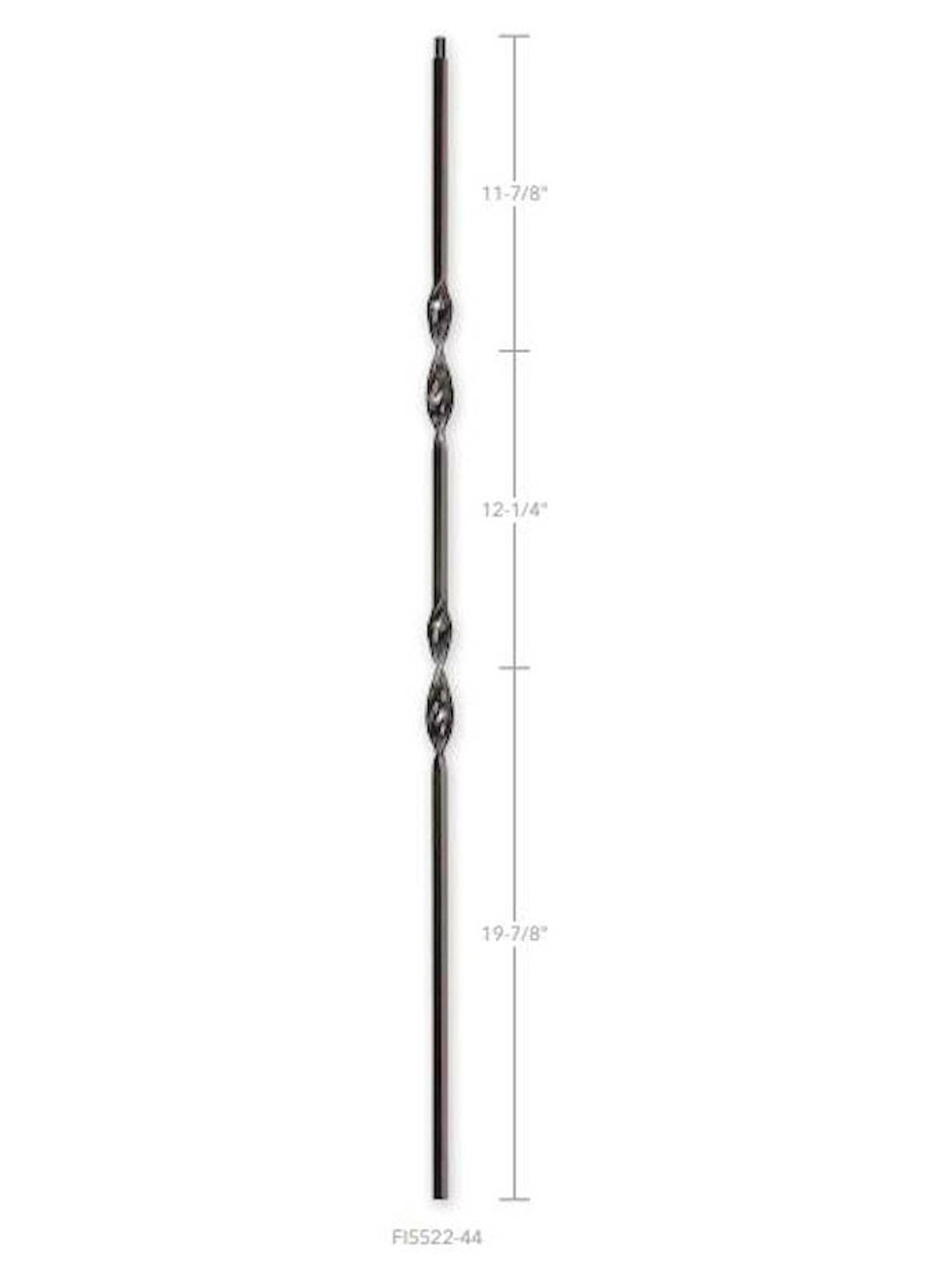 FIH5522-44 Hollow Double (two) Ribbon Iron Baluster