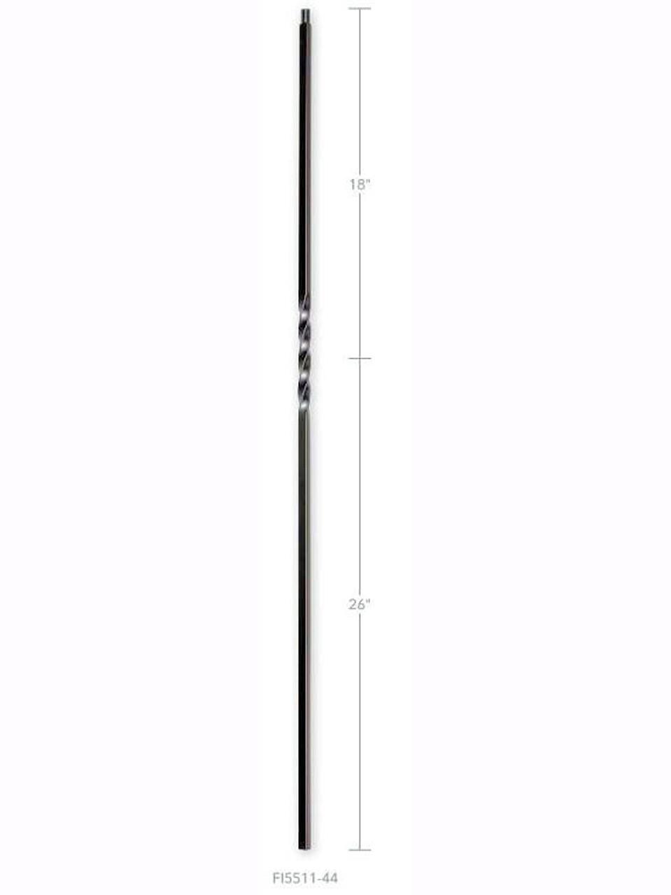 FIH5511-44 Hollow Single Twist Iron Baluster