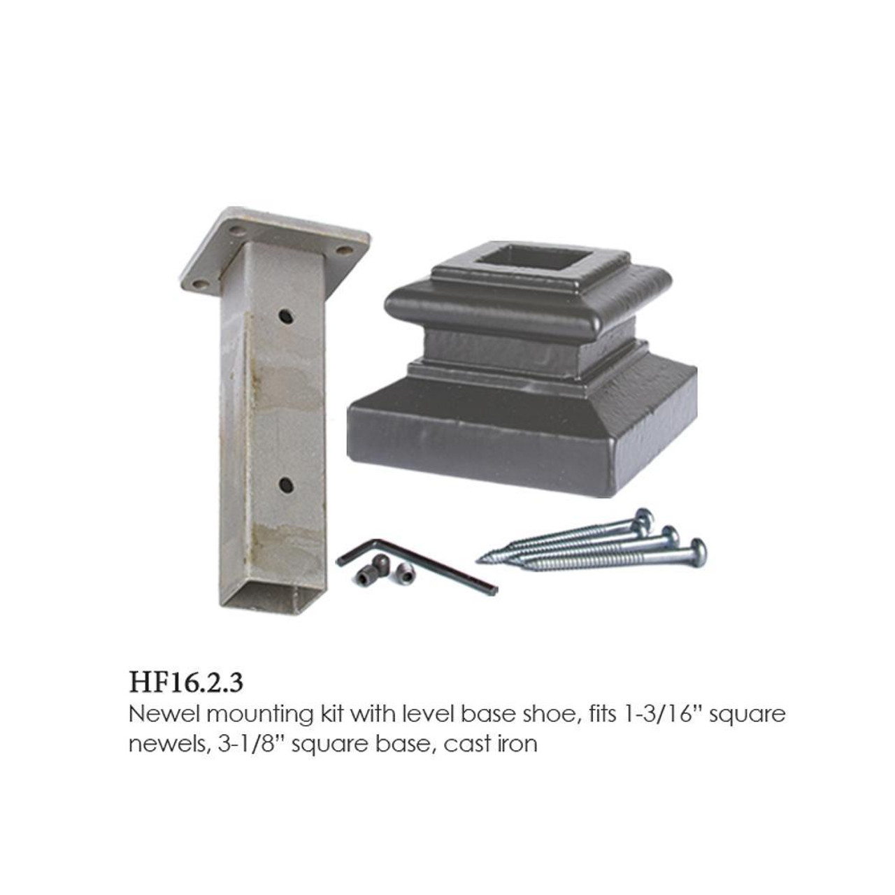 HF16.2.3 Newel Mounting System in Dorado Gold