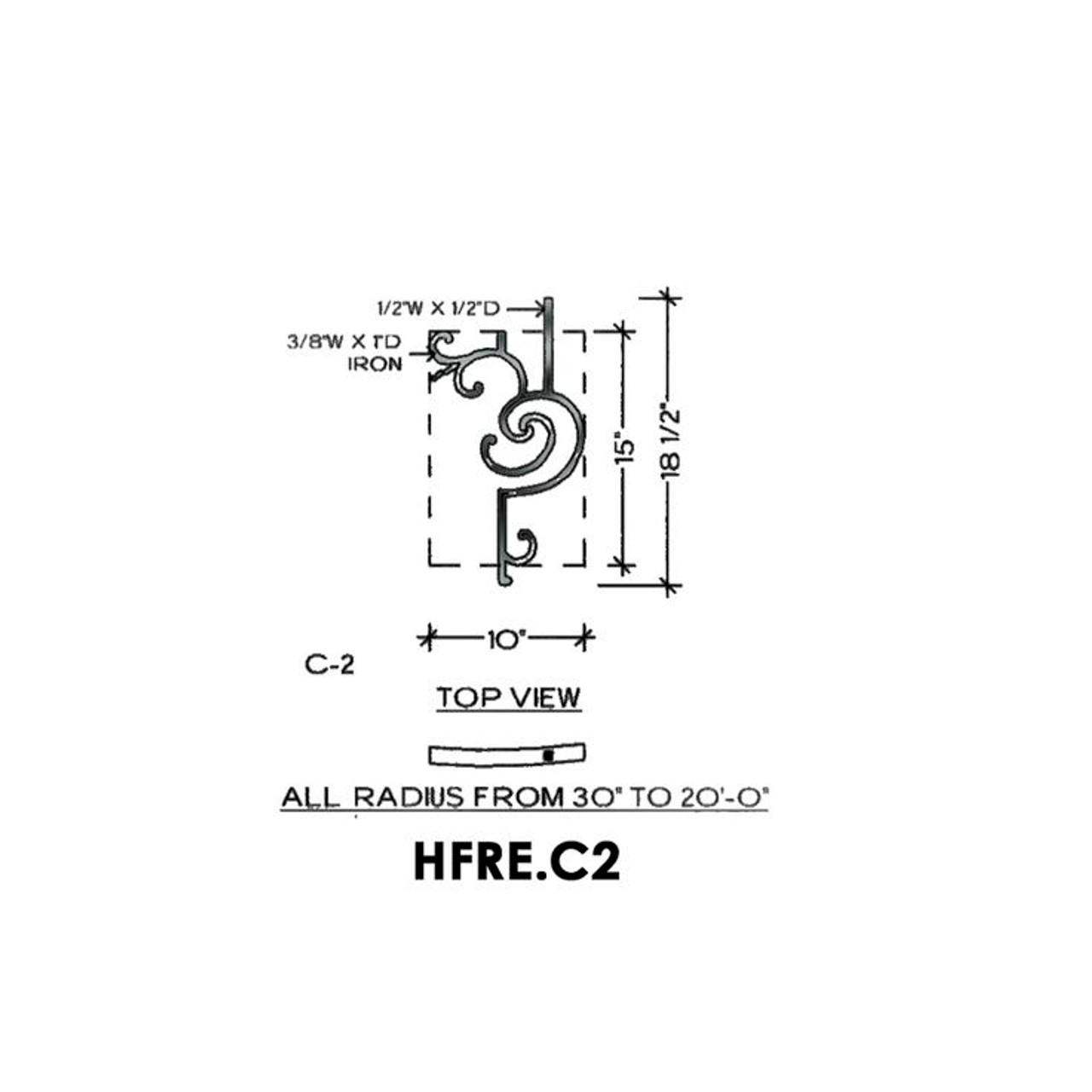HFRE.C2 Regency Curved Half Height Rake Panel