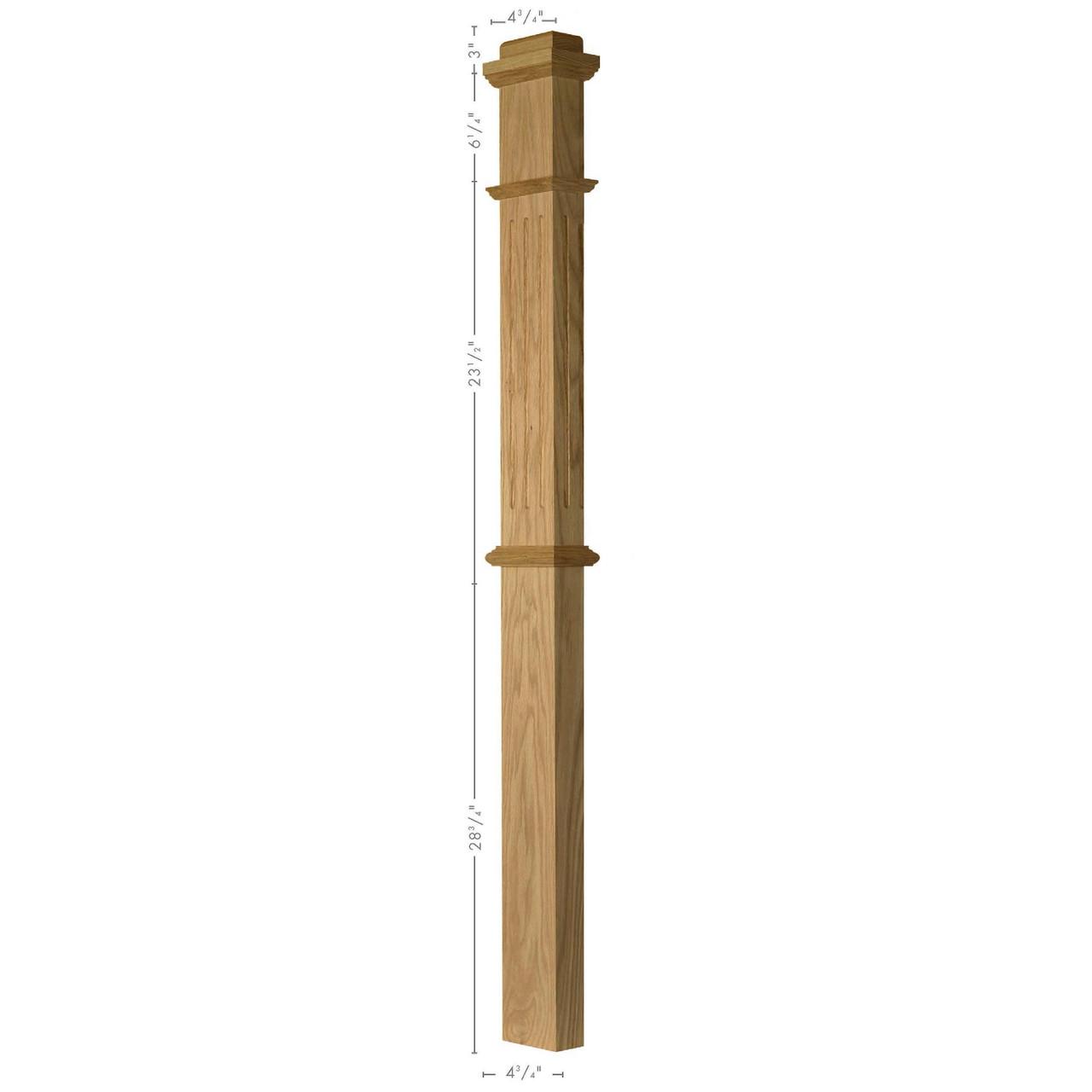 F-4375 Half-Sawn Box Newel Post