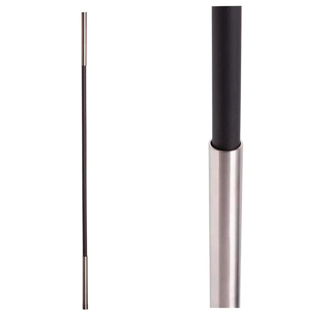 SoHo - Stainless Steel Base on Satin Black Baluster (17.4.1) Two Sleeves