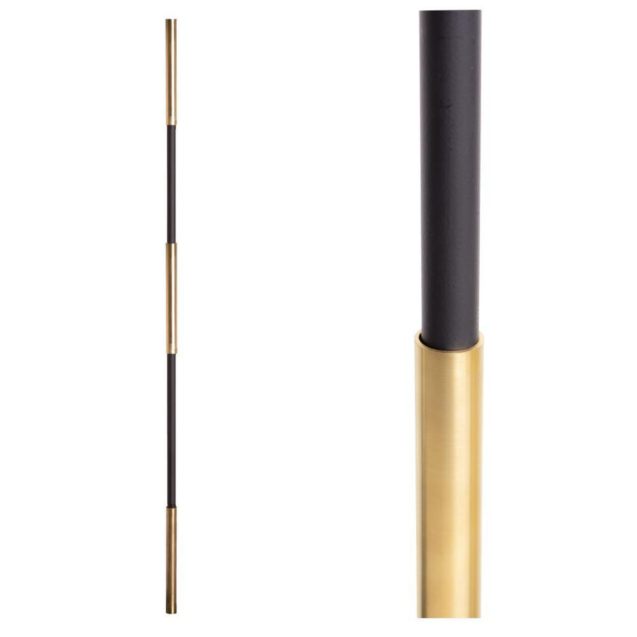 SoHo - Brass Base on Satin Black Baluster (18.4.1) Three Sleeves