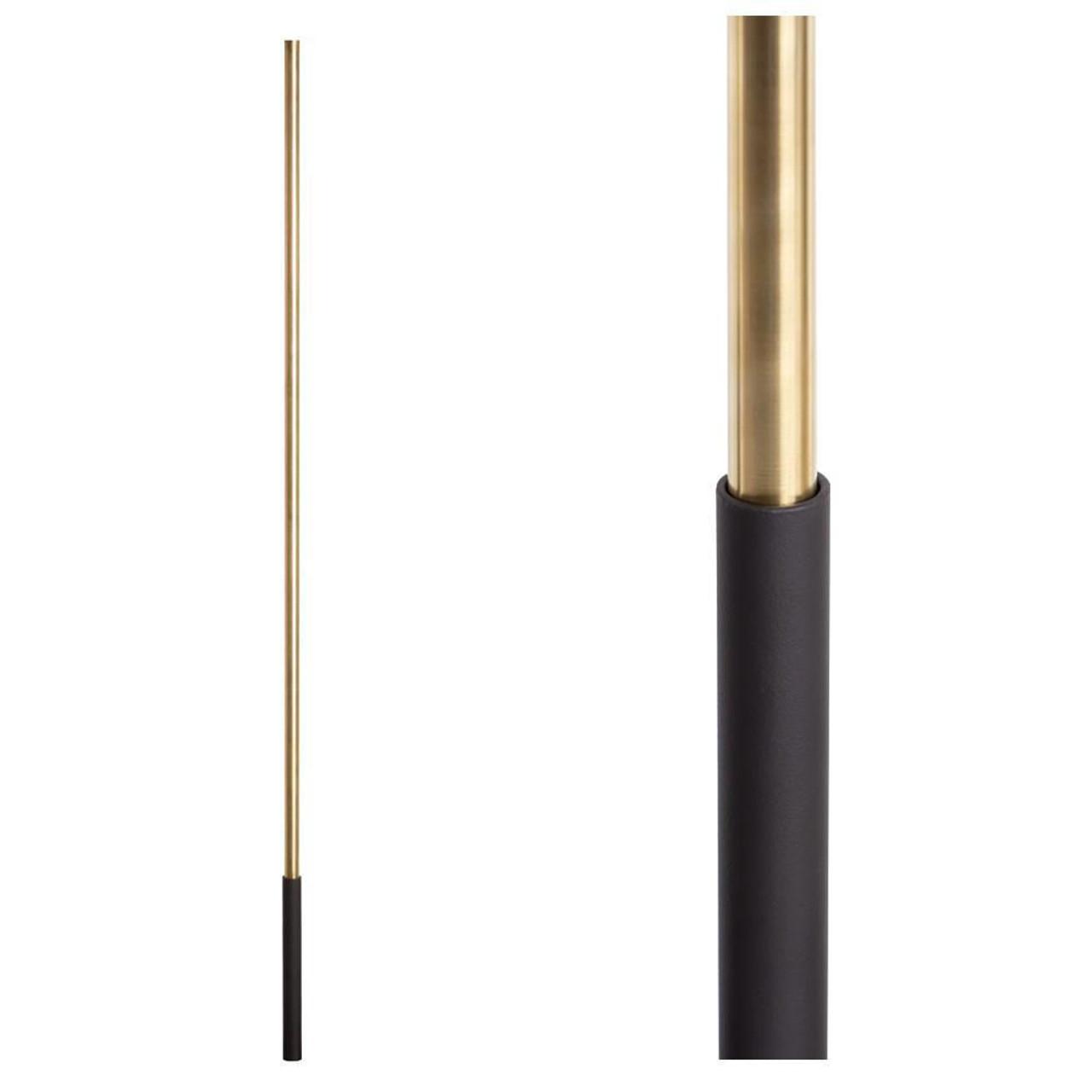 SoHo - Satin Black Base on Brass Baluster (16.4.1) One Sleeve
