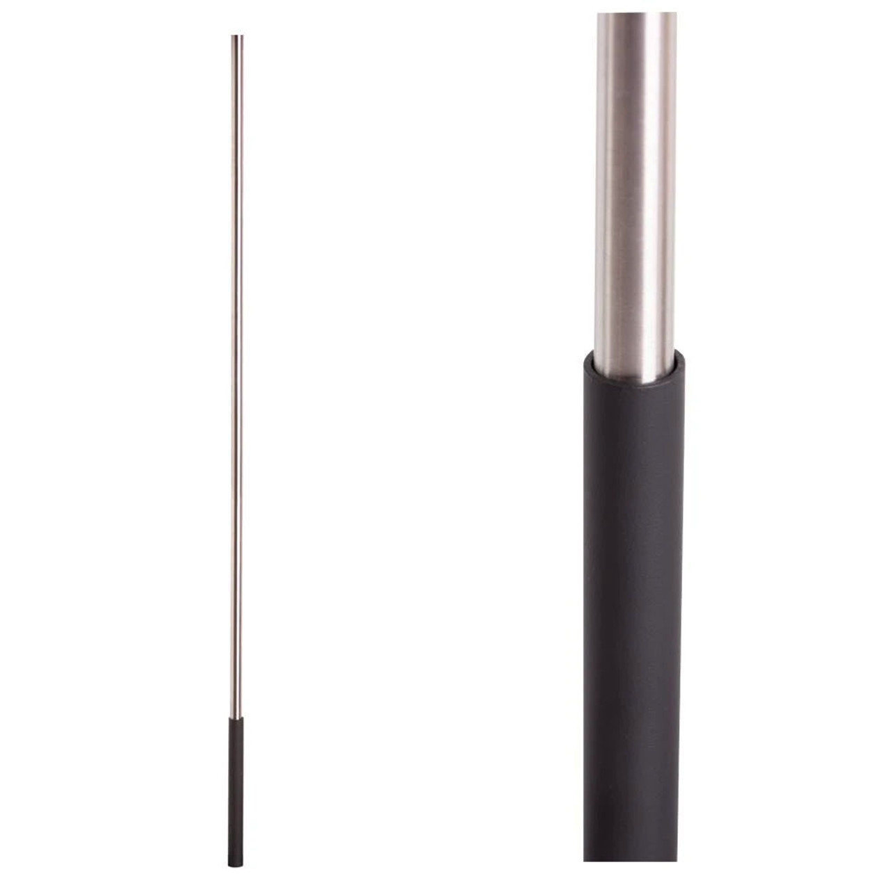 Satin Black Base on Stainless Steel Baluster (16.4.1SS) One Sleeve