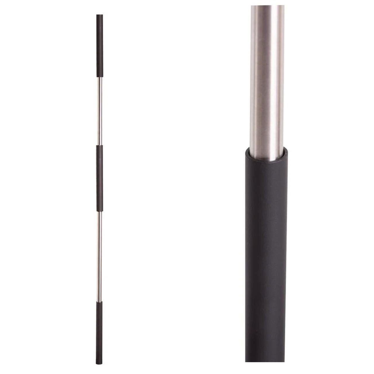 Satin Black Base on Stainless Steel Baluster (16.4.1SS) Three Sleeves