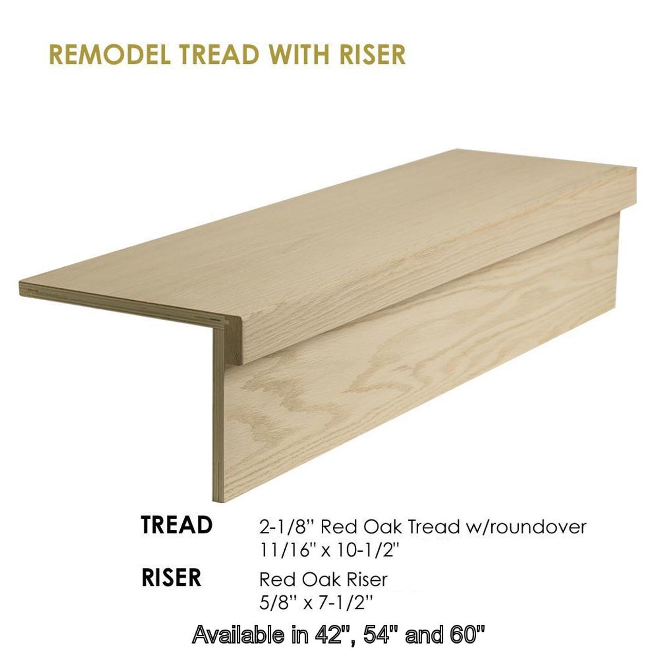 8070-Modern Retro Treads, Red Oak, No Returns